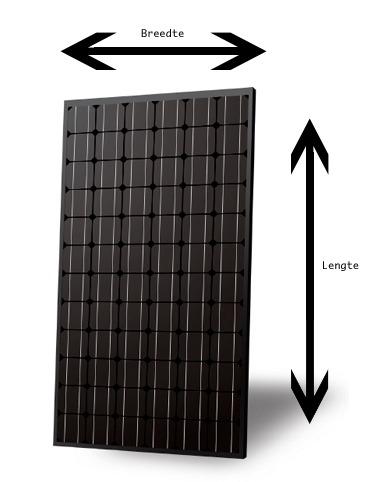 lengte breedte zonnepaneel