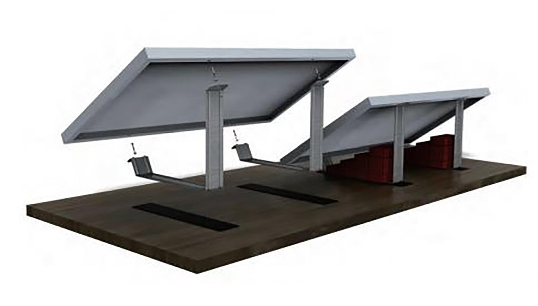 Flatfix eco voor plat dak montage voor zonnepaneel u sun solar